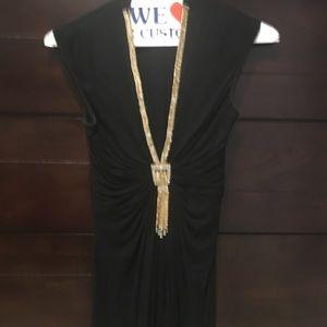 Sky dress beautiful beading size XS stretchy
